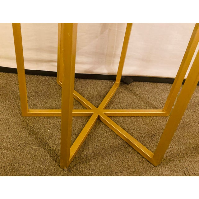 Gold Moroccan Brass Side Table For Sale - Image 8 of 13