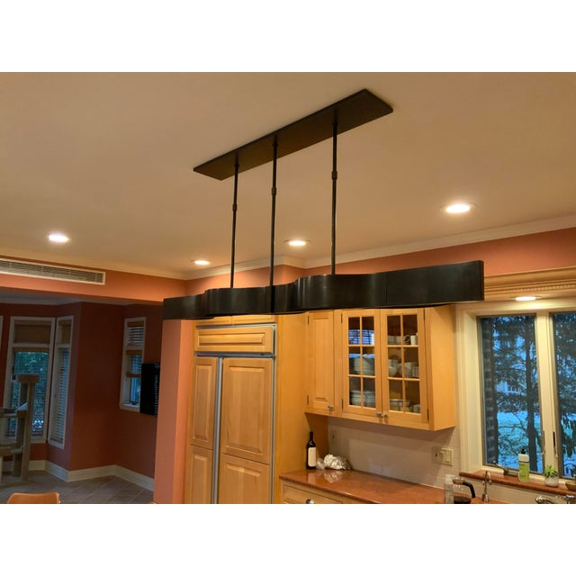 Abstract Visual Comfort Modern Linear Chandelier For Sale - Image 3 of 6