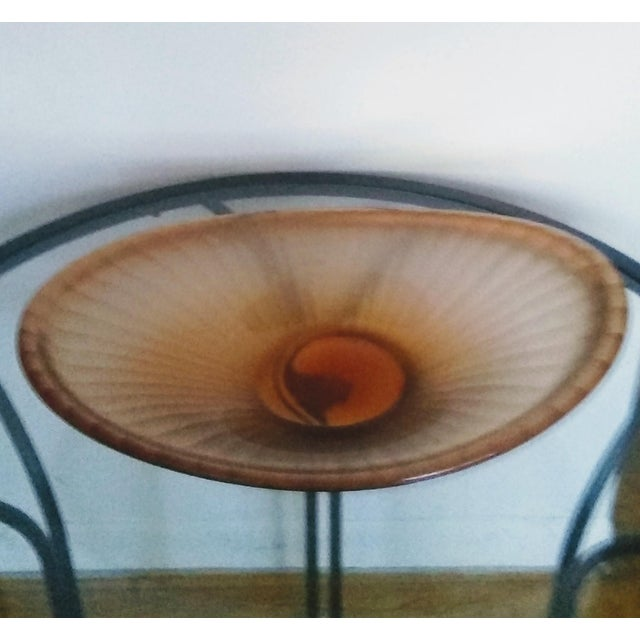 "Vintage Murano Venini ""Battuto"" Bowl For Sale - Image 9 of 9"