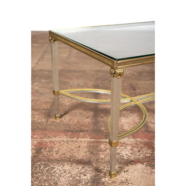 Hollywood Regency Mix Metal Bronze Coffee Table For Sale In Los Angeles - Image 6 of 9