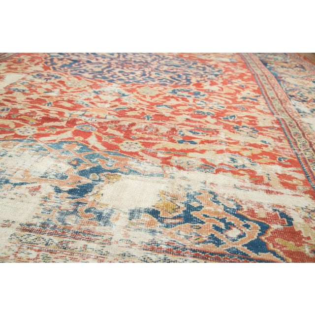 "Boho Chic Antique Distressed Ziegler Sultanabad Carpet - 9'9"" X 13'3"" For Sale - Image 3 of 10"