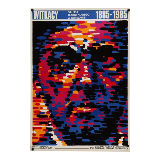1985 Orignal Polish Witkasy Exhibition Poster For Sale