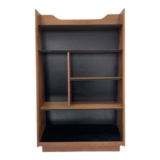 1960s Vintage Walnut Bookcase by Dillingham For Sale