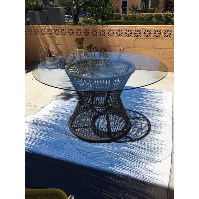 Crate & Barrel Patio Table - Image 2 of 5