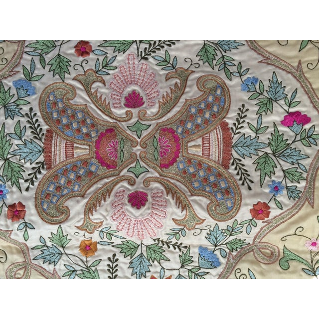 Silk Embroidered Pillow Cover - Image 4 of 6