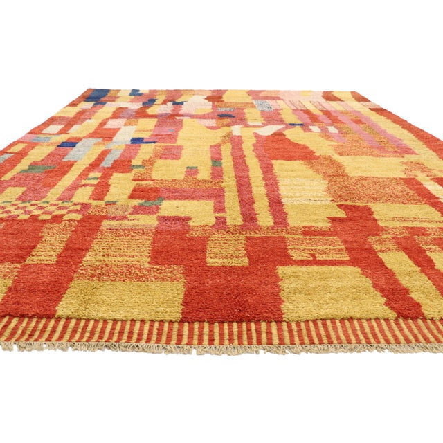 Islamic Moroccan Contemporary Rug - 09'11 X 13'11 For Sale - Image 3 of 10
