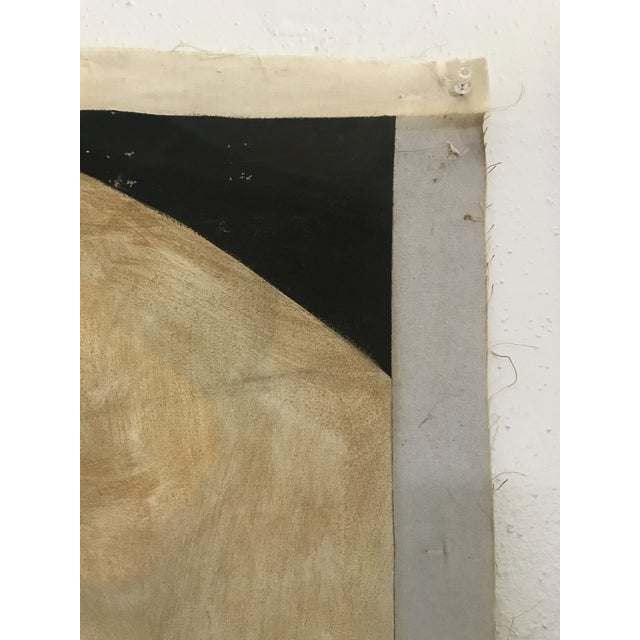 Green Large Scale 1980s Painting in Style of Tamara De Lempicka For Sale - Image 8 of 9