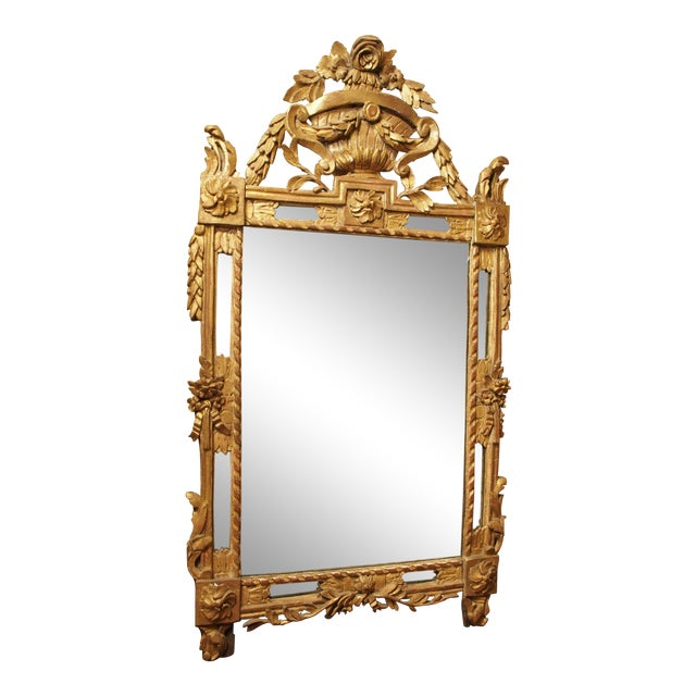 Epoch Louis XVI Gilt Wood Mirror For Sale