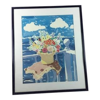 20th Century Floral Still Life Print Signed John Botz For Sale