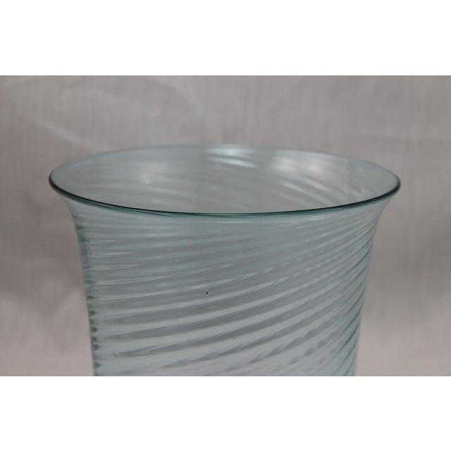 Art Deco Era Steuben Glassworks Baby Blue Translucent Swirl Bowl - Image 4 of 8