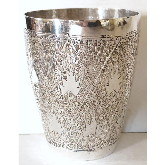 Japanese Silver Plate Drink Serving Set For Sale - Image 4 of 5