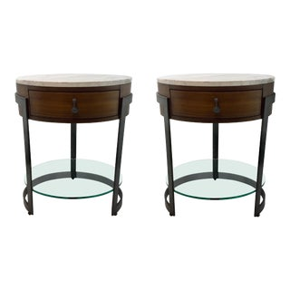 Organic Modern Nightstand Prototypes Pair By: Ad Modern For Sale