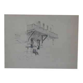 Spanish Colonial Bess Haddon Canright: Olvera Street, Los Angeles, Circa 1930 For Sale