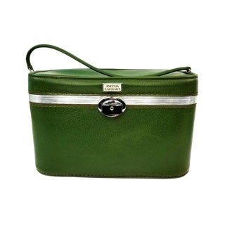 Vintage Amelia Earhart Green Train Cosmetic Case For Sale