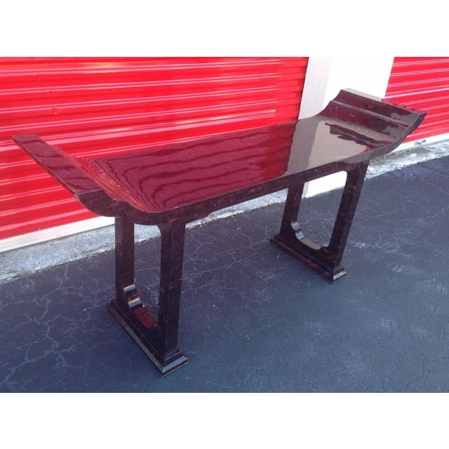 Traditional 1970s Maitland Smith Tessellated Horn Console Table For Sale - Image 3 of 11