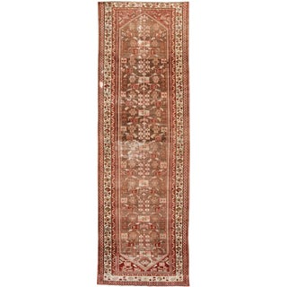 "1910s Traditional Apadana-Antique Persian Distressed Rug - 2'3"" X 10'0"" For Sale"