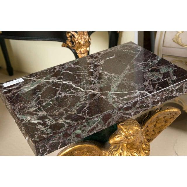 Marble Top Gilt Wood Carved Eagle Pedestal Table - Image 6 of 6
