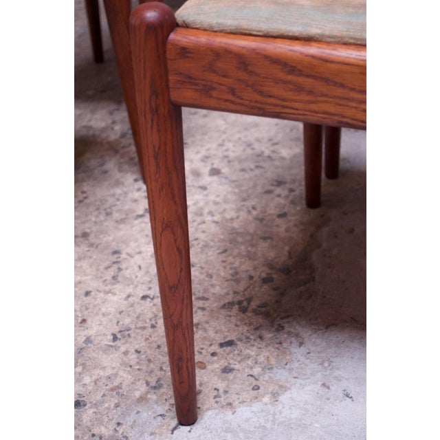 Set of Six Hans Wegner W2 Dining Chairs for CM Madsen in Oak For Sale - Image 10 of 13
