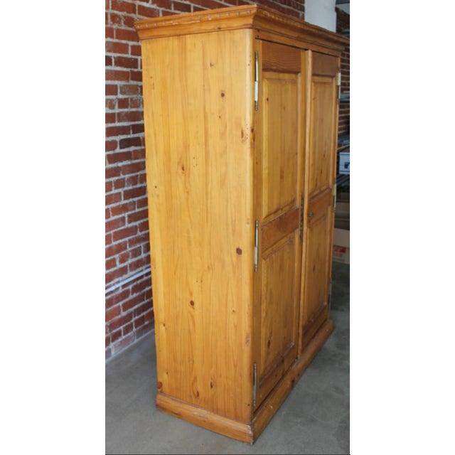 Kreiss Knotty Pine Wardrobe Armoire - Image 7 of 8