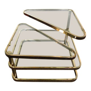 Design Institute of America Vintage Mid-Century Modern Gold Articulated Coffee Table