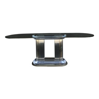 Monumental Lucite Paragon Console by Jeffrey Bigelow For Sale