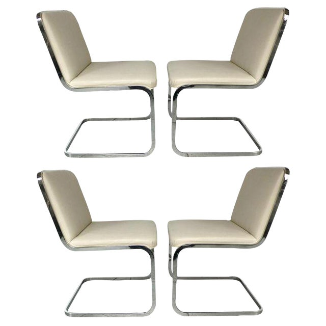 Set of Four Cantilever Chairs by Brueton For Sale