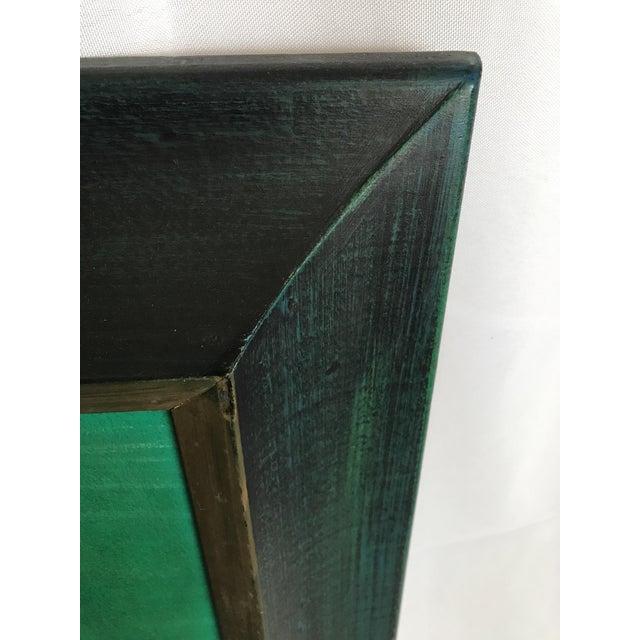 Wood Mid Century Modern 1960's Lee Reynolds Style Van Guard Studios Ships Drip Art Oil Painting For Sale - Image 7 of 8