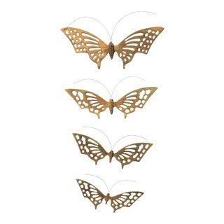 Brass Butterflies S/4 For Sale