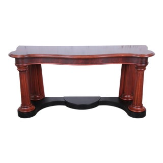 Ralph Lauren Neoclassical Flame Mahogany Console or Entry Table For Sale