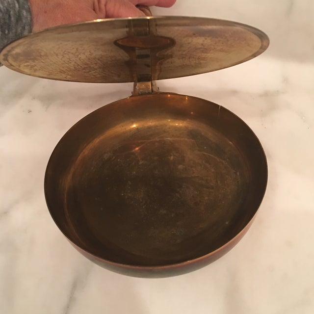 1950s Vintage Carl Auböck Brass Silent Butler Pan For Sale In Washington DC - Image 6 of 12