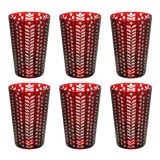 Image of Pariz Tumblers, Red, Set of 6 For Sale