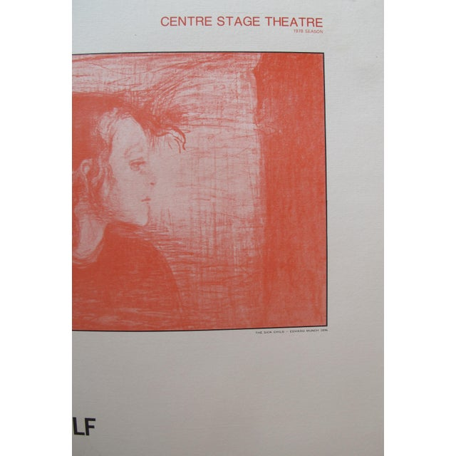Contemporary 1978 Little Eyolf Centre Stage Theatre Poster - Henrik Ibsen For Sale - Image 3 of 4
