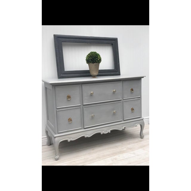 Gray Painted Contemporary Dresser - Image 3 of 5