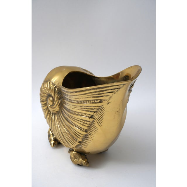 Nautilus Form Brass Cachepot For Sale - Image 4 of 8