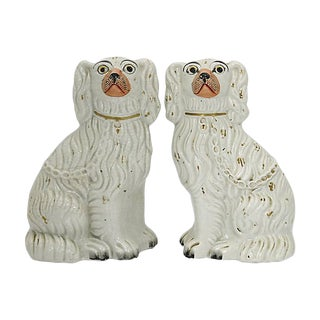 Antique Staffordshire White Dogs For Sale