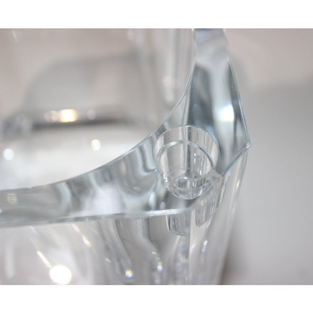 Transparent Vintage Lucite Ice Bucket With Cantilevered Lid For Sale - Image 8 of 11