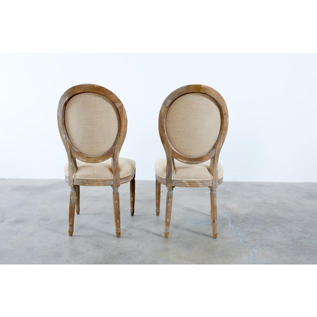 French Louis XVI Style Oak Dining Chairs - Set of 10 For Sale - Image 12 of 13