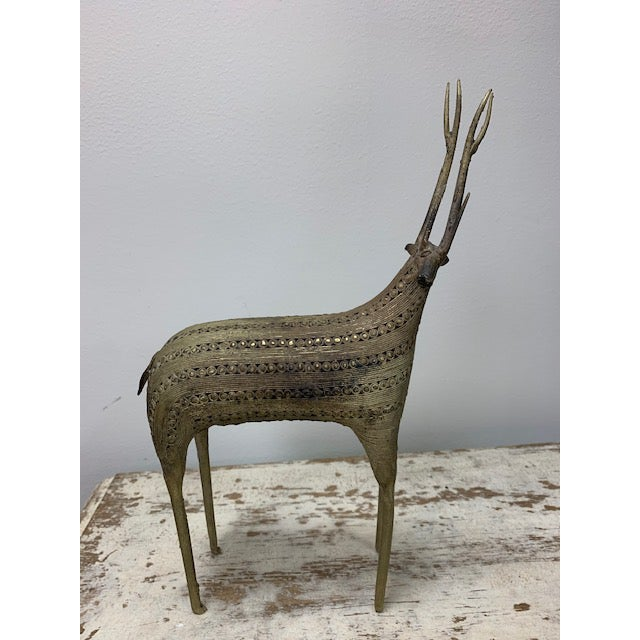 Early 20th Century African Filligris Silvered Metal Antelope For Sale In Washington DC - Image 6 of 6