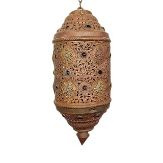 Vintage Moorish Moroccan Large Lantern Chandelier For Sale
