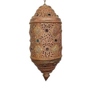 Vintage Moorish Moroccan Multicolored Lantern Chandelier