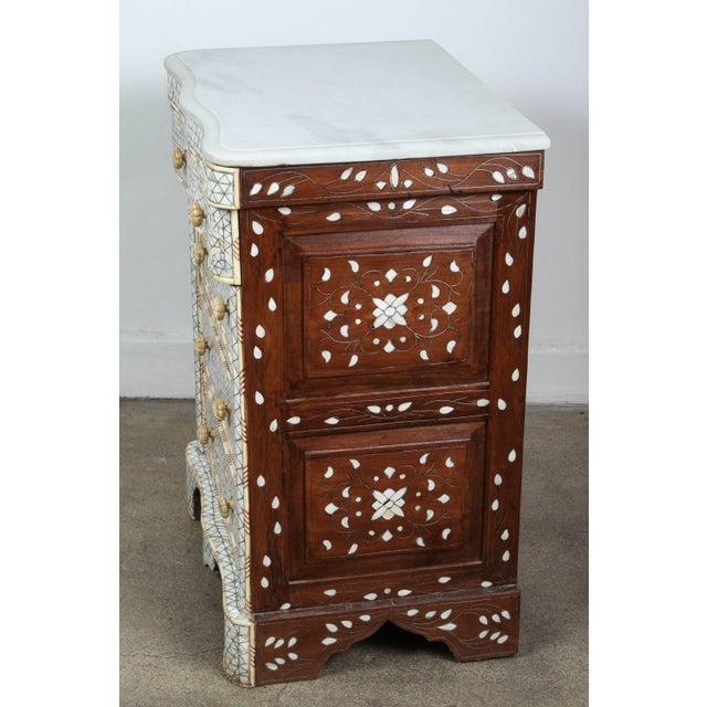 Pair of Mother-Of-Pearl Inlay Syrian Nightstands For Sale - Image 9 of 11
