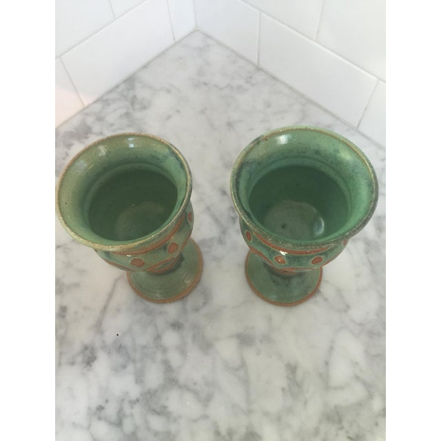 Mid-Century Challis/Goblet Pottery - Pair - Image 4 of 7
