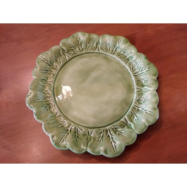 Cottage 1970s Majolica Cabbage Tureen With Serving Platter For Sale - Image 3 of 9