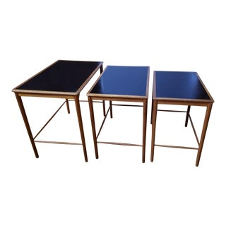 1960s Danish Modern Grete Jalk for Poul Jeppesens Møbelfabrik Teak Nesting Tables - Set of 3 For Sale
