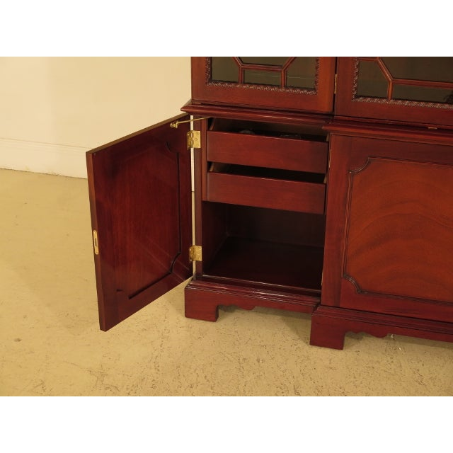 Brown Kindel Four Door Mahogany Breakfront China Cabinet For Sale - Image 8 of 13