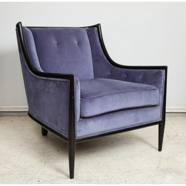 Art Deco Mid-Century Modern Ebonized Armchairs - a Pair For Sale - Image 3 of 8