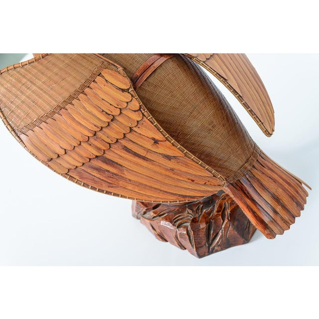 Vintage Chinese Woven Wicker Cormorant Box For Sale - Image 9 of 13