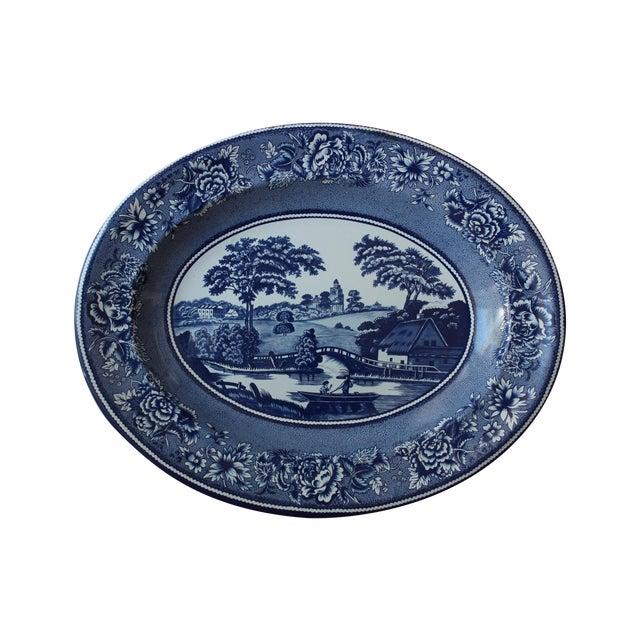 Blue & White English Tin Plate - Image 1 of 4