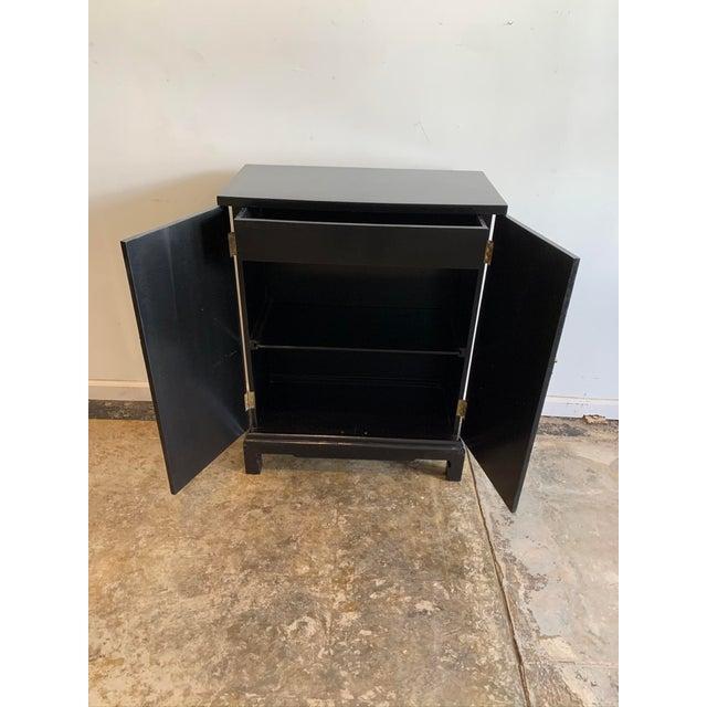 Asian Vintage Black Hallway Cabinet For Sale - Image 3 of 7
