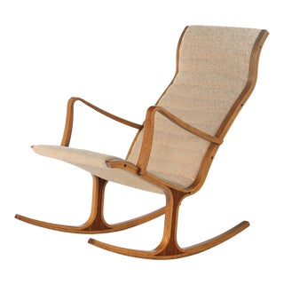 "1960s Art Deco Mitsumasa Sugasawa for Kosuga Regular Price ""Heron"" Rocking Chair For Sale"